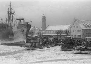 Seenotdienst - Pillau, January 1945. Boats and aircraft of the Seenotdienst helped evacuate thousands of German citizens during the last four months of war.