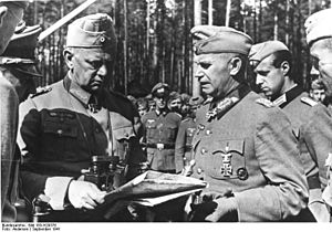 Otto Stapf (officer) - Field Marshal Walther von Reichenau and Otto Stapf (right)