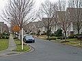 Bungalow narrow streetscape Birkdale Village (5489316470).jpg