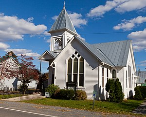 National Register of Historic Places listings in Mineral County, West Virginia - Image: Burlington Union Church