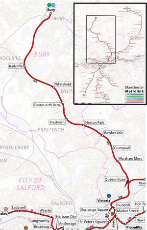 Bury Line - Image: Bury Line Map