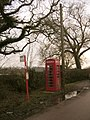 Bus stop and phone box, Fritham, New Forest - geograph.org.uk - 108899.jpg