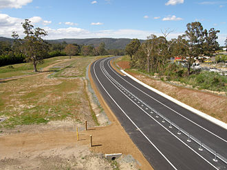 Kingston Bypass - The Kingston Bypass, prior to being opened to traffic.