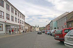 Bystřice nad Pernštejnem - Image: Bystřice nad Pernštejnem náměstí1