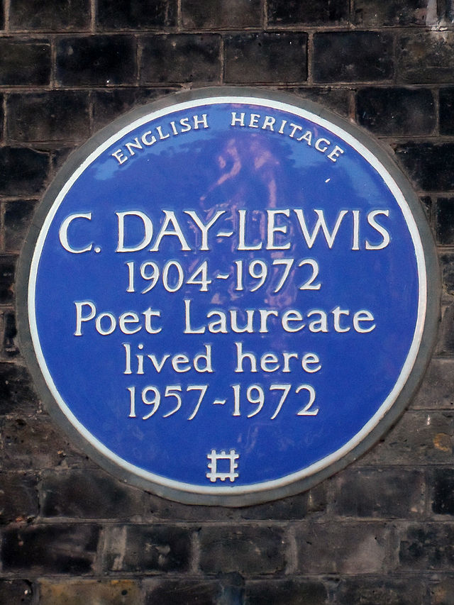 Cecil Day Lewis blue plaque - C. Day-Lewis 1904-1972 Poet Laureate lived here 1957-1972
