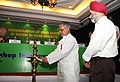 """C.P. Joshi lighting the lamp to inaugurate the """"Workshop on Consideration of Road Safety in Design of Road Projects"""" jointly organized by the National Highways Authority of India & Indian Roads Congress, in New Delhi.jpg"""