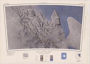 Map sheet with the SPLETTSTOESSER GLACIER