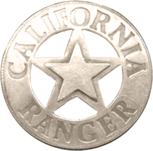 Castaic, California - California Ranger badge.