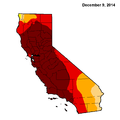California Drought status for Dec 9th 2014.png