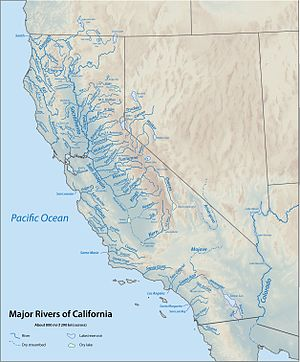 Water in California - Major rivers of California