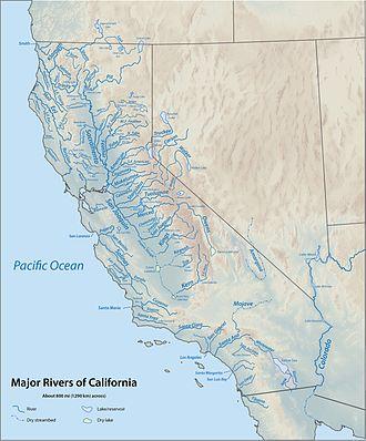 Water in California - Major rivers of California