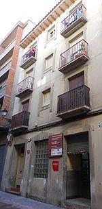 Casa en la calle Ramón Pignatelli, 57. Amparo Poch vivió en esta casa hasta 1916.
