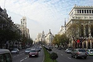 Calle de Alcalá - Calle de Alcalá, seen from Plaza de Cibeles