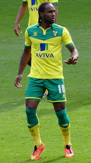Cameron Jerome - Jerome playing for Norwich City in 2014