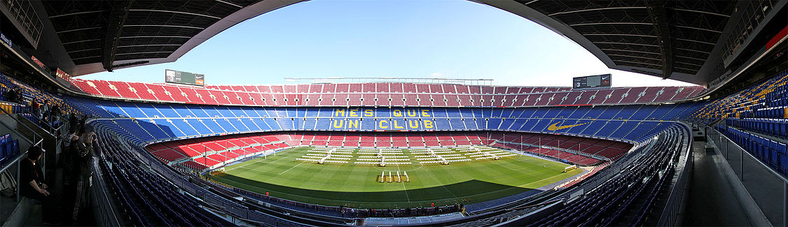 El Camp Nou ye l'estadiu con mayor capacidá de toa Europa.