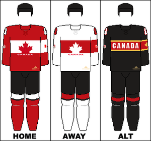 Canada women's national ice hockey team - Image: Canada national hockey team jerseys 2014 Winter Olympics