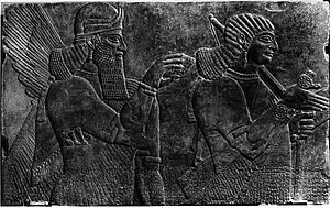 Canford School - Assyrian relief rediscovered at Canford School.