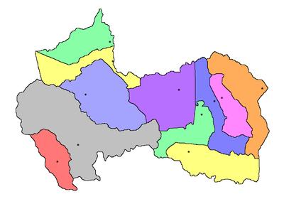 Canindeyu mapa politico.png