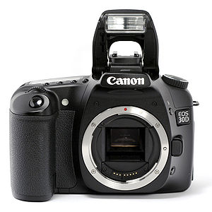 Photo of the Canon EOS 30D Digital, showing mo...