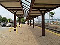Canopy at New London station.JPG