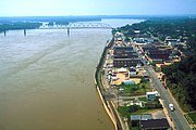 Waterfront of Cape Girardeau along the Mississippi River during the Great Flood of 1993