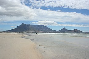 View of Table Mountain from Milnerton beach