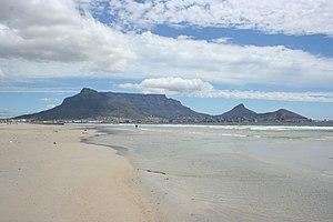 Milnerton - View of Table Mountain from Milnerton beach