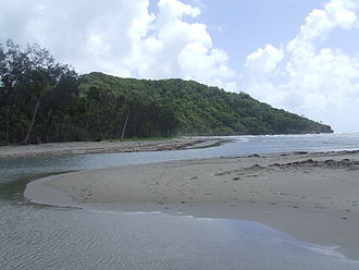 Cape Tribulation, Queensland - The Dubuji Boardwalk leads to the beach.