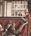 Capella sassetti, conferma della regola francescana, dettaglio 01.jpg