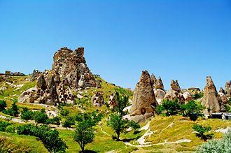Cappadocia - Fairy chimneys in Uçhisar, Cappadocia.