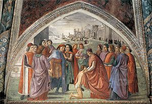 Sassetti Chapel - The Renunciation of the Worldly Goods