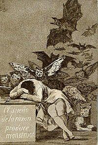 Capricho n.º 43, «El sueño de la razón produce monstruos».