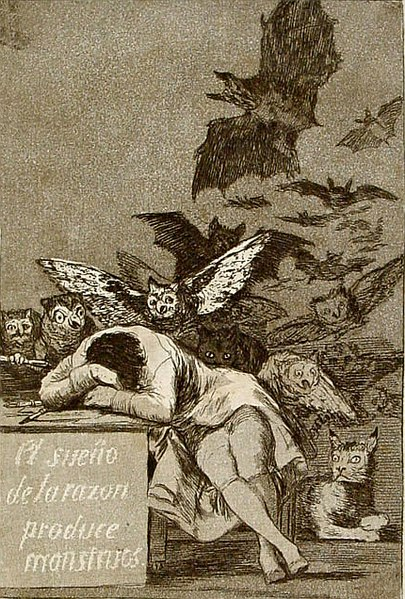 Capricho 43, Goya's 'The Sleep of Reason Produces Monsters'