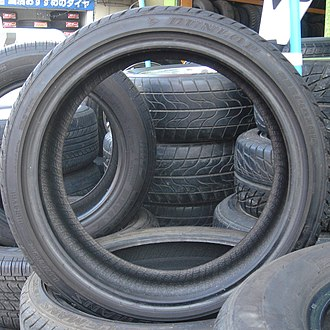Tire - Stacked and standing car tires