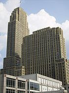 The Carew Tower is not only the tallest building in Cincinnati, but also a great example of French Art Deco.