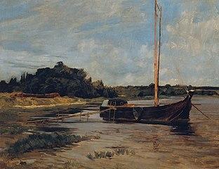 Sailing boat at the Havel river