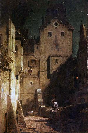Kurpfälzisches Museum - Carl Spitzweg: The Sleeping Night Watchman (c. 1875)