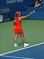 Carla Suárez Navarro (18) vs. Angelique Kerber (8) US Open 2013 (9669957505).jpg