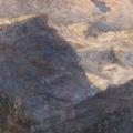"""Carlo Bazzi, Paesaggio Champoluc pomeriggio - Valle d'Aosta (Il Rosa)"""", 46,5 x 37,5.png"""