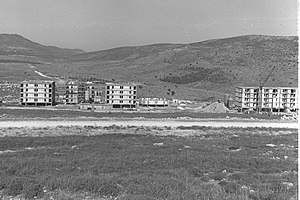 Karmiel - The first housing units under construction, 1964