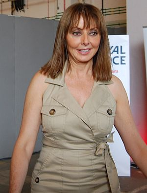 English: Carol Vorderman pictured at RAF Waddi...