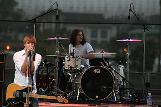 Cartel (band) - Cartel performing in 2008 with their original lineup (shown are Kevin Sanders on drums and Will Pugh on vocals)