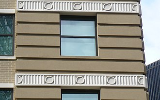 JW Marriott Downtown Houston - Detail of restored quoining of the Carter Building, now JW Marriott Hotel