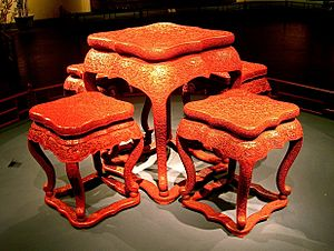 Shanghai Museum - Carved lacquer furniture