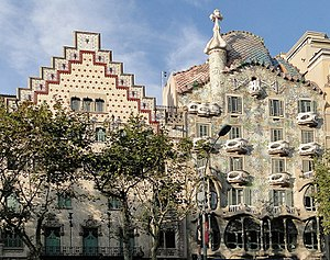 Passeig de Gràcia, Barcelona - Casa Amatller and Casa Batlló