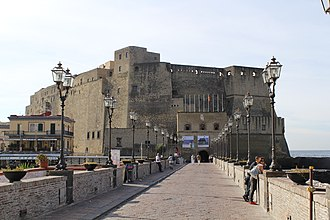 Castel dell'Ovo - The entrance to Castel dell'Ovo from the north