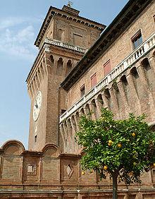 Castello estense wikipedia for Giardino wow ferrara