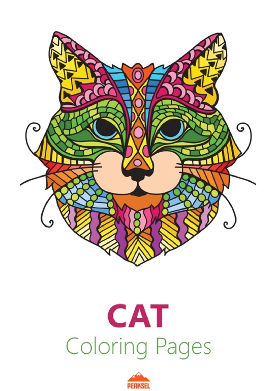 File Cat Coloring Pages For Adults Printable Coloring