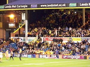 Catalans Dragons - The Catalans Dragons supporters at Headingley in Leeds, England.