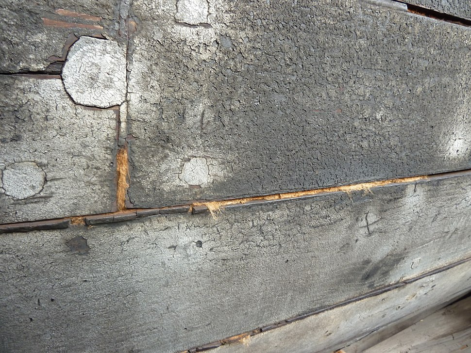 Caulked hull timbers, Spry, Blists Hill